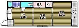 狭山桜台マンション[2階]の間取り