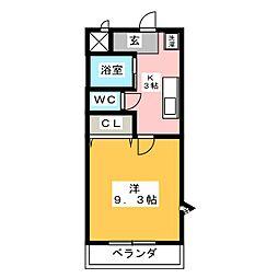 アンソレイユ榎木[2階]の間取り