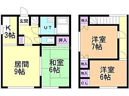 松浦ハイム(7-15) 1階3LDKの間取り
