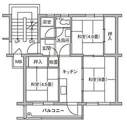 UR豊四季台[86-301号室]の間取り