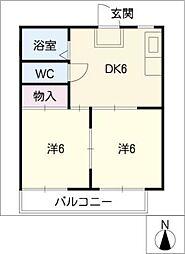 メゾン千里夢[1階]の間取り