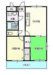 BELLO TAKADA[2階]の間取り