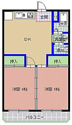 三の丸ブルーハイム[307号室]の間取り