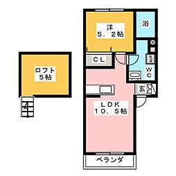 シティーワンズ箱田[2階]の間取り