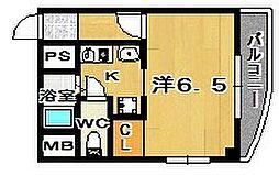 大阪府茨木市中穂積1丁目の賃貸マンションの間取り