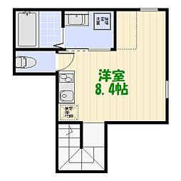 東京都葛飾区堀切5丁目の賃貸アパートの間取り