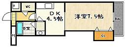 クオレッツァ山科[3階]の間取り