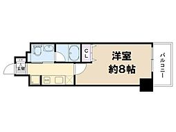 大阪府大阪市中央区日本橋2丁目の賃貸マンションの間取り