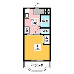メゾンリサイア[1階]の間取り