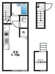 東京都練馬区羽沢2丁目の賃貸アパートの間取り