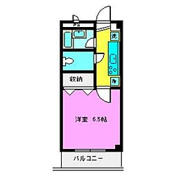 LEO六番館[302号室]の間取り