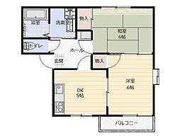 エスポワール3[1階]の間取り