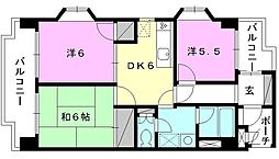 TS東野[401号室]の間取り