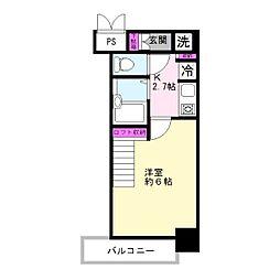 柾木マンション[402号室]の間取り