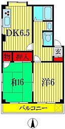 パークサイドマンション・ハル[3階]の間取り