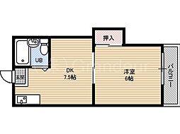リリアン都島[4階]の間取り