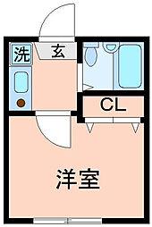 東京都墨田区立花5丁目の賃貸アパートの間取り