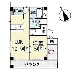 Crystal IslandーTatsumi 3階[302号室]の間取り