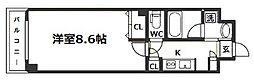 大阪府大阪市東成区大今里西2の賃貸マンションの間取り