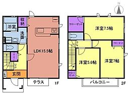 湘南モノレール 湘南深沢駅 徒歩14分の賃貸テラスハウス