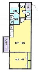 宮本マンション[2階号室]の間取り