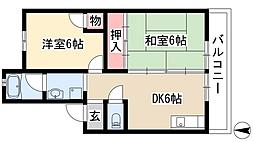 フジエコーポ[2階]の間取り
