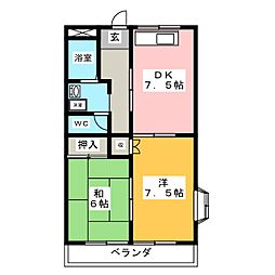 フレックス羽島[3階]の間取り