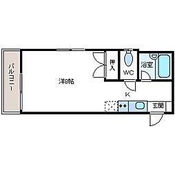 ROYAL GT 高宮Ⅱ[1階]の間取り