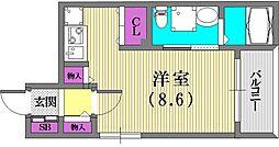 サンクラッソ神戸山手[3階]の間取り