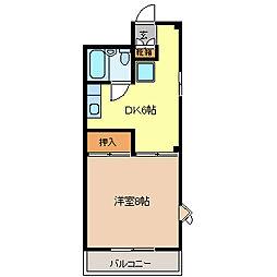プチメゾン栗田[2階]の間取り