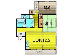 SKマンション11[3階]の間取り