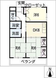 メリーハウス[2階]の間取り