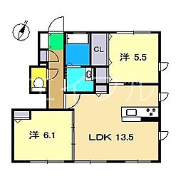 シャーメゾン ナカノ[1階]の間取り