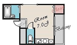 ラ・フォーレ桜宮I[302号室号室]の間取り