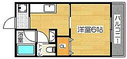 美沢コーポ[104号室]の間取り