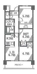 アルビオ北新横浜[2階]の間取り