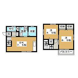 [一戸建] 静岡県富士市久沢2丁目 の賃貸【/】の間取り