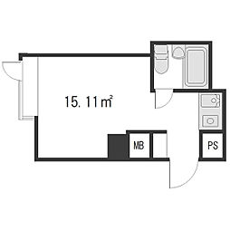 パリーマンション[3階]の間取り