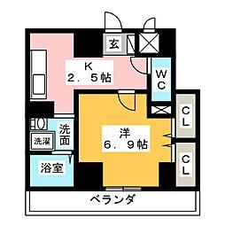 クラウザン徳川[4階]の間取り