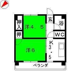 びわざとマンション[2階]の間取り