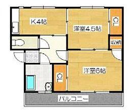 大坪飯田ビル[B301号室号室]の間取り