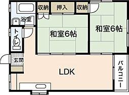 木本レジデンスA[2階]の間取り