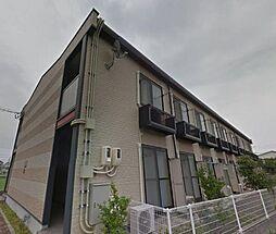 広島県福山市神辺町大字新徳田の賃貸アパートの外観