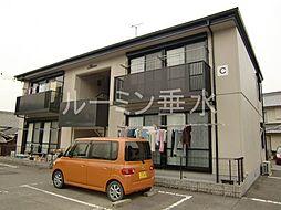 兵庫県加西市鶉野町の賃貸アパートの外観
