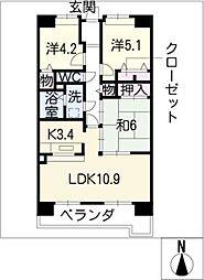 アーバンドエル八事石坂[8階]の間取り