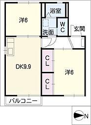 平子ハイツ[2階]の間取り