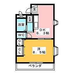 メゾンドオパール[4階]の間取り