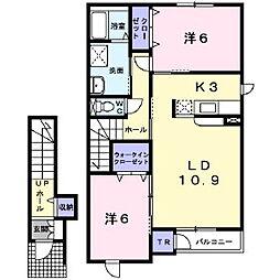 ユーチャリス[2階]の間取り