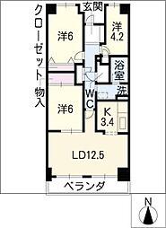 新瀬戸パークホームズ 503号[5階]の間取り