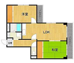 アビタコア3[2階]の間取り